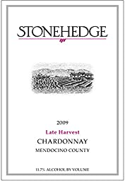 2009 Stonehedge Late Harvest Chardonnay Mendocino County 375 mL