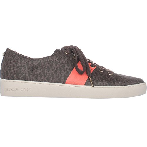 Michael Michael Kors Keaton Lace Up Signature Fashion Sneakers - Brown/Mimosa a2sKOk1Fb