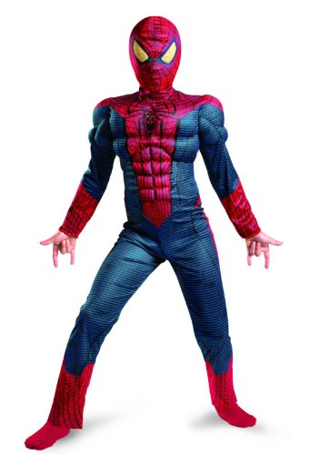 Amazing Spider Man Game Costumes (The Amazing Spider-man Movie Muscle Light Up Costume, Red/Blue, X-Large)