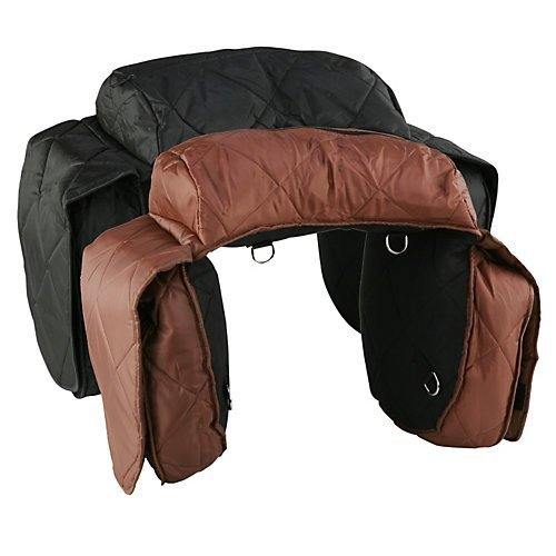 Aime Imports Western 210 Denier Combo Quilted Saddlebag Brown ()