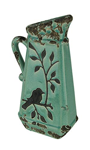 Your Heart's Delight Birds 'n Branches Pottery Pitcher, 6-1/4 by 13 by 3-Inch from Your Heart's Delight
