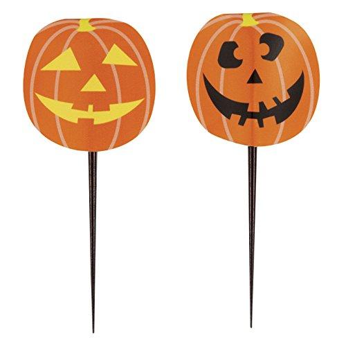 Unique 62539 Pumpkin Halloween Toothpicks