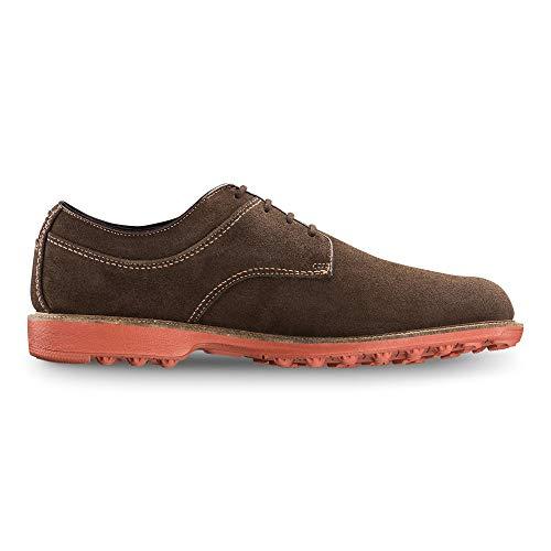 (FootJoy Men's Club Casuals-Previous Season Style Brown 10.5 W Sneaker, Chocolate Suede, US)