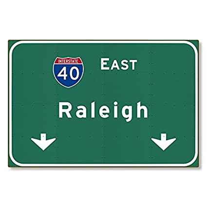 Amazon com: I-40 Interstate Raleigh North Carolina nc METAL Highway