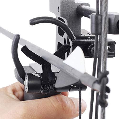 ACAMPTAR Poggia-Arco da Caccia Tiro con LArco Poggia-Arco Poggiatesta Composto Regolabile per Accessori da Allenamento AllAperto Sinistra