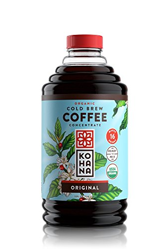 Kohana Uncordial Brew Coffee Concentrate, Organic, Original, 32 Ounce, Best Zero Calorie Low Acid Iced Coffee, Instant, Useful and On The Go, Makes 15 Drinks, Single Bottle