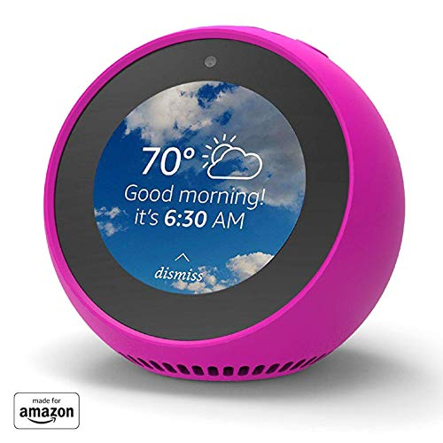 """""""Made for Amazon"""" Mission Cables Skin for Echo Spot – Hot Pink"""