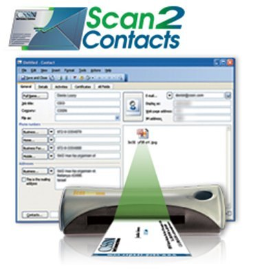 CSSN Portable Business Card Scanner and Reader - (Best Business Card Scanners)
