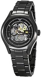 Emporio Armani Men's AR1427 Meccanico Skeleton Dial Watch