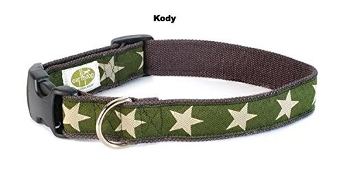 Hemp Star Dog Collars-M-KODY(GRN)