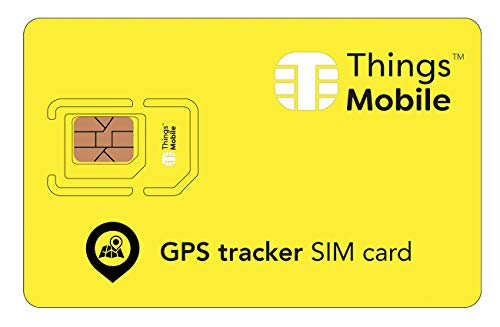 SIM Card for GPS Tracker - Things Mobile - Global Coverage, Multi-Operator GSM/2G/3G/4G Network, No Fixed Costs, No Expiration Date, Competitive Rates. $15 Credit Included + Free $2 Credit