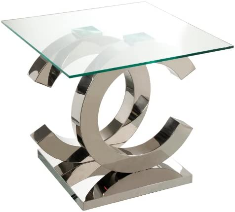 Suska-Regalos Mesa Cristal y Metal - 55x55x50cm: Amazon.es: Hogar