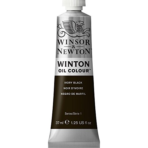 Winsor & Newton Winton Oil Colour Paint, 37ml tube, Ivory Black