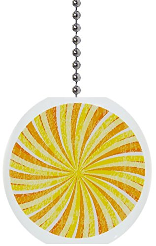 Ceramic Swirl (Yellow Swirl Solid Ceramic Fan Pull)