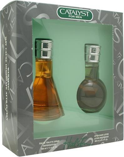 Catalyst By Halston For Men. Set-edt Spray 3.4 Ounces & Aftershave 3.4 Ounces