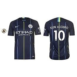 Manchester City F.C. Maillot pour Homme 2018-2019 Away PL - Kun Aguero 10