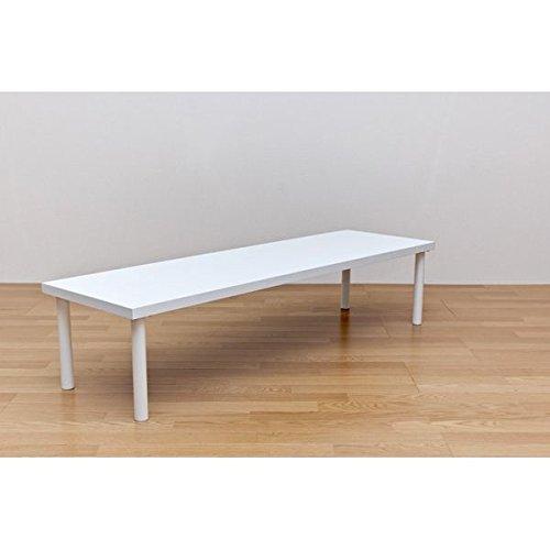 フリーローテーブル(作業台/PCデスク/センターテーブル) 長方形 幅150cm×奥行45cm 天板厚3cm ホワイト(白) B077QH6WJ4