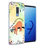 Case Compatible with Samsung Galaxy s9 Plus Cocomong Cute Sloth On The Tree Animal Design Phone Cover Protective Flexible Soft TPU Anti-Drop-Scratch Shockproof Bumper for Women Girls Men Boys Unisex