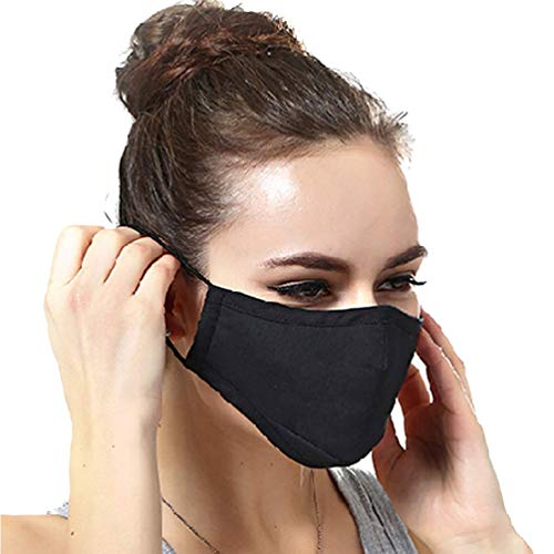 N95 Dust Mask Can Be Washed Reusable and Smoke Pollution Mask with Filter One Size Black (Black) by Newmax