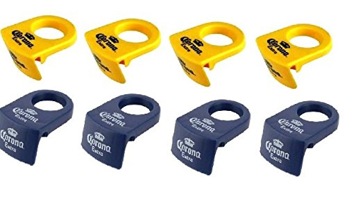 8 CORONITA RITA Bottle Holder Clips (4 Blue and 4 Yellow) Corona in your Margarita Glass Cocktail