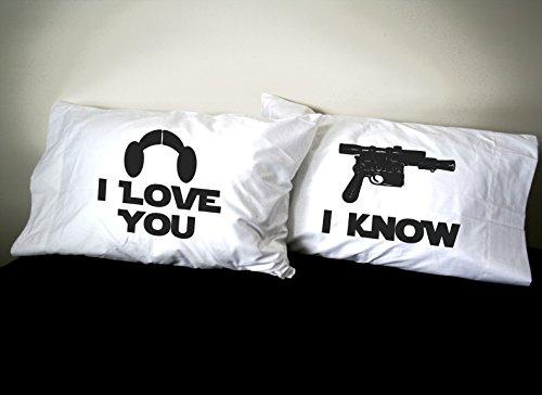 Star Wars Inspire I Love You I Know Blaster Pillowcase Set Amazon