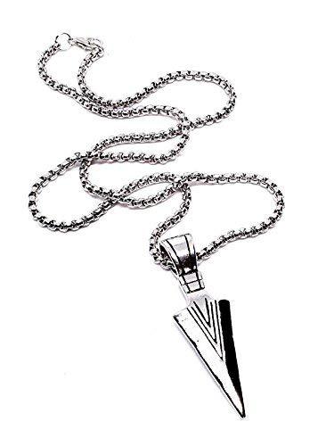 Eclectic Shop Uk Odins Spear Colgante Vikingo Gungnir Odin nórdico Collar Calidad Cadena Acero