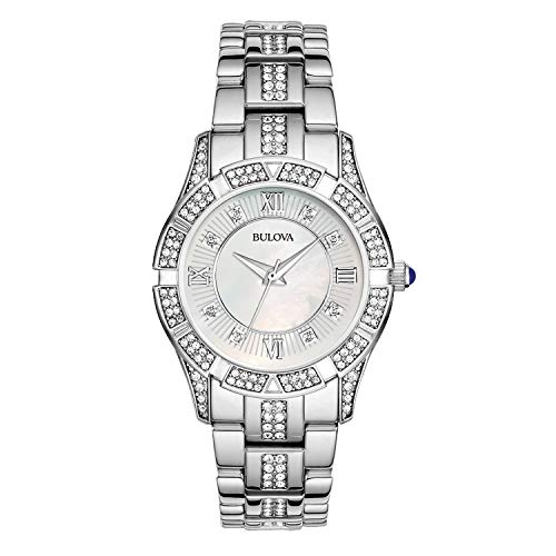 - Bulova Women's 96L116 Swarovski Crystal Stainless Steel Watch