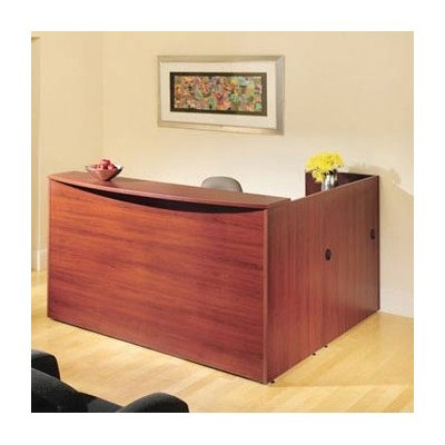 Office Traditional Pedestal (Hyperwork Reception Desk Suite Pedestal: Left, Finish: Windsor Cherry, Pull: Chrome)