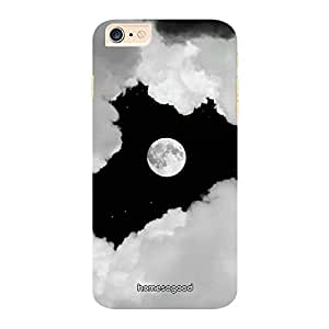 HomeSoGood Moon Gazing Through The Clouds Grey 3D Mobile Case For iPhone 6 Plus (Back Cover)