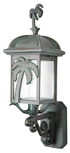 Melissa Lighting PT29307 Tropical/British Colonial Outdoor Wall Mount from Palm Tree Series Collection in Bronze/Darkfinish ()