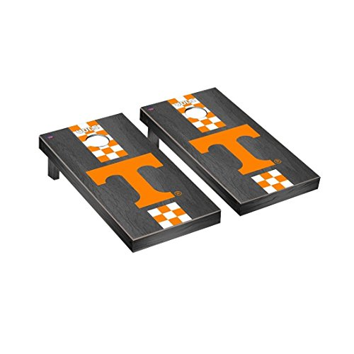 Victory Tailgate Tennessee Vols Volunteers Regulation Cornhole Game Set Onyx Stained Stripe Version