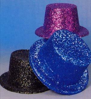 [Hat - Glitter Top Hat Purple Deluxe Accessory] (Rocky Horror Costumes Amazon)
