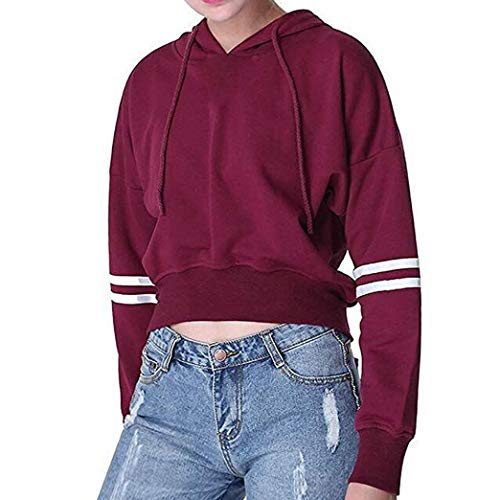 Sweatshirt Hoodie for Women MITIY Casual Letter Long Sleeve O-Neck Pullover Crop Tops Blouse