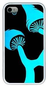 Blue Shrooms9 Custom iPhone 4s/4 Case Cover TPU White by icecream design