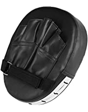 盛世汇众 Guantes de Boxeo Sanda Cojines de la Mano del cojín de Destino Muay Thai Kick Enfoque del cojín del sacador del Karate del Taekwondo Mitt MMA Espuma Boxer Formación Rojo Negro (Color : Negro)
