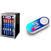 NewAir AB-850 84-Can Beverage Cooler, Cools to 34 Degrees & FIJI Water Dash Button