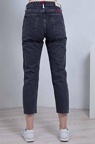 Tommy Taglia E A Taglio 25 Donna Alta Slim Jeans Viso Lavaggio Vita Nero rx6PCqrw