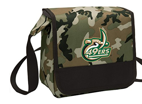 Broad Bay Camo UNCC Lunch Bag Shoulder University of North Carolina Charlotte Lunch Boxes