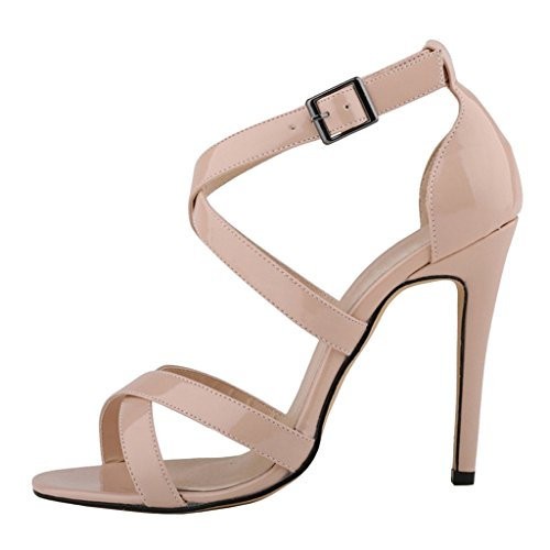 MERUMOTE - sandalias mujer Patent-Apricot