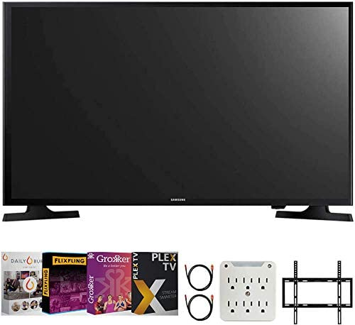 "SAMSUNG UN32M4500B 32""-Class HD Smart LED TV (2018 Model) Bundle with Premiere Movies Streaming 2020 + 19-45 inch TV Flat Wall Mount + 2X 6FT 4K HDMI 2.0 Cable + 6-Outlet Surge Adapter"