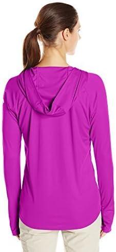 Moisture-Wicking Columbia Womens PFG Tidal Tee Hoodie UV Protection