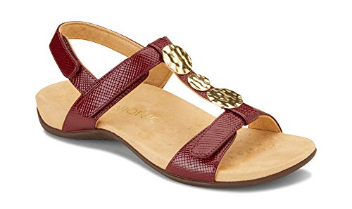 - Vionic Women's Rest Farra Backstrap Sandal - Ladies Adjustable Sandals with Concealed Orthotic Support Fig Lizard 11 W US
