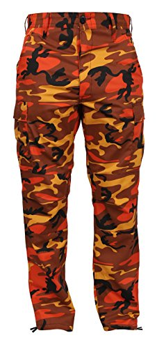 Rothco Color Camo Tactical BDU Pants, Savage Orange Camo, 2XL ()