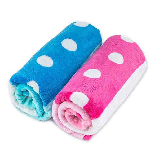 Allisandro Super Soft and Fluffy Premium Flannel Fleece Dog Throw Blanket, Appealing and Cute Paw Prints Equally for Puppy Cat