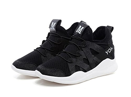 Women's Athletic xiaoyang Men's Sports Walking Black Mesh Shoes Running Non Lightweight Shoes Slip Sneakers Fashion qwUZ5