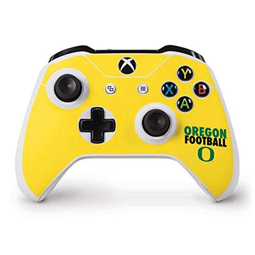 (Skinit Oregon Ducks Football Xbox One S Controller Skin - Officially Licensed Fermata College Gaming Decal - Ultra Thin, Lightweight Vinyl Decal Protection)