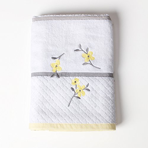 Saturday Knight Spring Garden Bath Towel, White