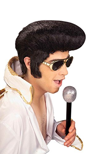 Forum Novelties Men's Rock N' Roll Elvis Presley Wig, Black, One Size