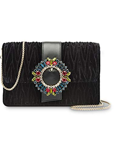 Miu Miu Women's 5Bh095voo1068f0002 Black Velvet Shoulder Bag