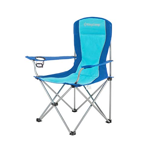 Fold Fishing Stool, Light Foldable Outdoor Chair Camp Aluminium Stools Travel Chair Portable Chair Thicken Durable Chair (Color : Blue)